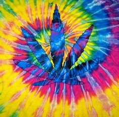 6483fb4762 Details about POT LEAF TYE DYED TEE SHIRT mens womens SIZE MED hippie tie  dye tees NEW SWIRL