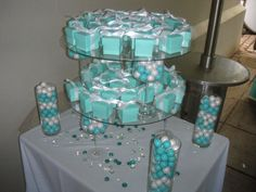 Favor at Tiffany themed bridal shower