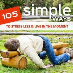 105 Simple Ways to Stress Less & Live in the Moment! Here are over 100 ways to keep you feeling good, in control, and relaxed anytime the stress monster decides to come to town. Ways To Relieve Stress, Reduce Stress, Stress Less, Stress Free, Health And Wellness, Health Tips, Mental Health, Health Fitness, Relaxation Station