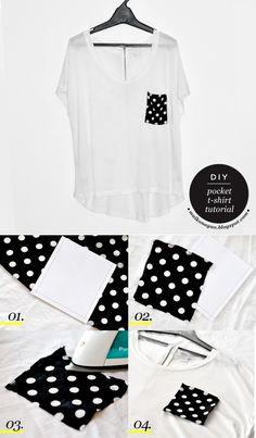 Maiko Nagao - diy, craft, fashion + design blog: DIY: Pocket T-shirt tutorial plus free pattern