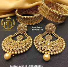"Punjabi Traditional  ""Antique Gold Jhodha Bangle & Earrings""(Next to Real)  Item Code - PTJ EB126  For price please inbox with Image or WhatsApp at this number +91 9914721111 or you can email us at Punjabijewellery@gmail.com  #sydney #australia #america #canada #california #kuwait #dubai #london #england #india #italy #sikhwedding #bride #fashion #happy #jewellery #kundan #lehnga #love #newyork #NYC #punjabi #toronto #traditional #uk #us #usa #viah #sikhwedding"