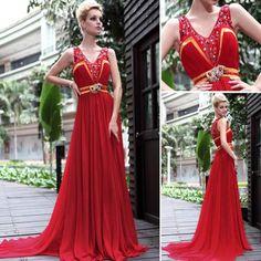 情熱的なスペインレッドのロングドレス - ロングドレス・パーティードレスはGN 演奏会や結婚式に大活躍!