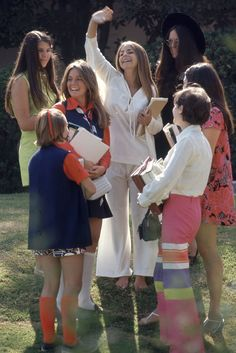 """''Beverly Hills High classmates show off their fashions, 1969."""""""