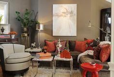 Buena Vista condo - contemporary - living room - san francisco - Brian Dittmar Design, Inc.
