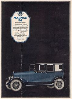 Advertisement for Marmon Automobile.