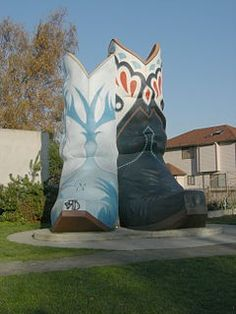 Giant Cowboy (Cowgirl?) Boots, Oxbow Park, Seattle, Washington