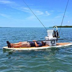 Paddle Board Fishing Nap #reellife #gearthatfitsyourlifestyle www.reellifegear.com