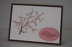 Easter blossoms card