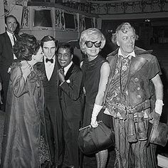Joan Collins, Anthony Newley, Sammy Davis Jr., Carol Channing, and Cyril Ritchard on the Shubert Theatre stage following the opening night performance of THE ROAR OF THE GREASEPAINT - THE SMELL OF THE CROWD in 1965. #joancollins #anthonynewley #sammydavisjr #carolchanning #cyrilritchard #theroarofthegreasepaintthesmellofthecrowd #openingnight #shuberttheatre #broadway #broadwayhistory #bygonebroadway #1965