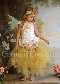 Whimsical Fairy Tutu Set (Sage) by CarmenCreation on Etsy https://www.etsy.com/listing/106611544/whimsical-fairy-tutu-set-sage