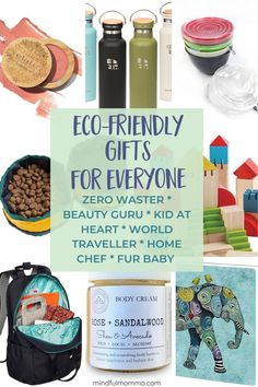 Gifts to Wow Everyone On Your List : Eco-friendly gifts for everyone on your list including reusable zero waste gear, natural beauty products, sustainable home & kitchen supplies, travel gear, plus eco gifts for kids and pets.