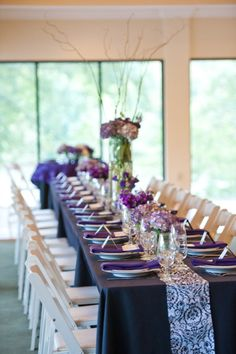 Black white and purple wedding · Wedding Table SettingsWedding ... & Wedding ideas for nightmare before Christmas theme | I.like ...