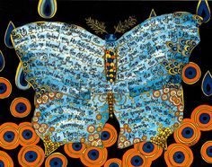 Magnificat Prayer Art with Butterfly Catholic Art by DovetailInk