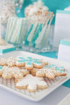 Snowflake Sugar Cookies. #christmas #dessert #recipes