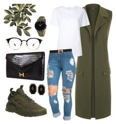 cd81e64ee64cb Olive Green Vest Nike Huarache by sophistiratchet on Polyvore Olive Green  Sneakers