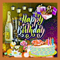Birthday Animated Gif, Birthday Wishes Gif, Happy 40th Birthday, Birthday Cards, Birthday Photo Frame, Birthday Photos, Blessed, Birthdays, Animation