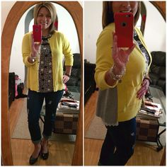 Inspired by a cabi sister on Pinterest today with Jot Top and Belle Cardigan....love the details of this sweater! Paired with Comet Wash Boyfriend Jeans (fall 14 and DIY destruction) and A2 by Aerosoles pumps.