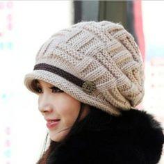 a63f74d720b Lady Warm Snow Hat Winter Beanie Crochet Cap Winter Knit Hats