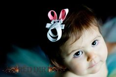 Easter Bunny Hair Clip by TheresesBoutique on Etsy, $5.00