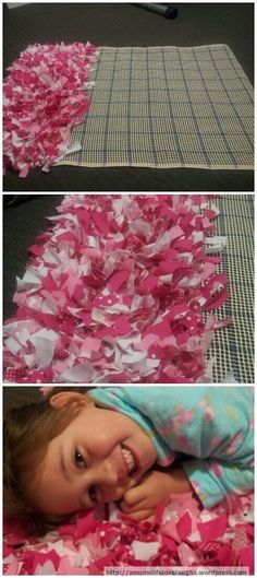 Shaggy rag rug tutorial