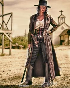 ~ La Chica Mala: a badass gunslinger of the Olde West. Modeled here by cowgirl Tressie Childs for Short Branch Mercantile. ~