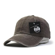 Plain Washed Cotton Twill Dad Hat Baseball Cap with Adjustable Velcro