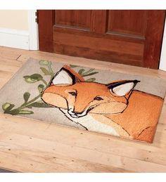 Hooked Fox Rug By Robbin Rawlings Locker Hooking Design