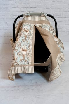 Infant Car Seat cover by VisInnovations on Etsy, $100.00