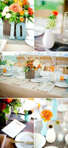 Loving these table numbers - so quick and easy!