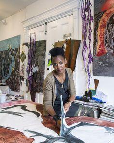 From Independent Curators International (ICI) Benefit Auction, Wangechi Mutu, Studio Visit Harlem Renaissance Artists, Black Artists, American Artists, Female Bodies, Auction, Studio, Artwork, Inspiration, Benefit