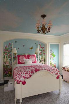 Love cloud ceilings for kids.  Love, love, love. It has to awaken the imagination, doesn't it?
