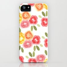Vintage Florals #iPhone & iPod Case by Bouffants and Broken Hearts - $35.00 #pattern #flowers FREE SHIPPING through September 29th.
