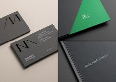 Die cut business cards for Nicholas Architects by Strategy Design, New Zealand