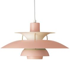 The Danes are now doing the classic Louis Poulsen lamp in rose and green combo. Louis Poulsen, Suspension Light, Louis Poulsen Lamp, Vintage House, Interior Design Styles, Pendant Light, Retro Interior Design, Light, Glass Lighting