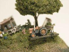 art sculpture japan animal miniature maico akiba wooden creatures the green landscape