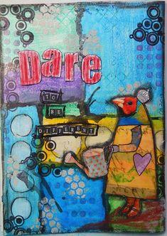 Dare...an Art Journal page - Scrapbook.com