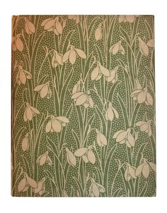 Snow Drops - Antique French Printed Book Paper - Art Nouveau style