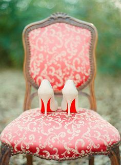 Romantic Bridal Inspiration - bridal session ideas | Wedding Sparrow | www.weddingsparrow.co.uk -- how about these Christian Louboutin shoes
