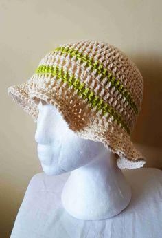 Prírodný letný klobúčik-nefarbená bavlna