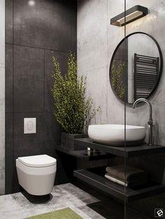 Preto e branco, espelho redondo