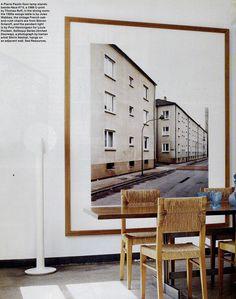 Xl framed photo behind dining table | Shirin Neshat Photography - Elle Decor
