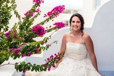Beautiful bride surrounded by pink Bougainvillea and Cycladic arhitecture in Naxos island, Greece Stefan Fekete Photography Rustic Wedding, Wedding Day, Bridal Portraits, Beautiful Bride, Got Married, Bridal Jewelry, Bougainvillea, Byzantine, Jewelries