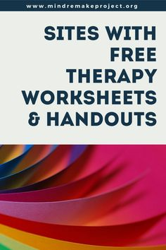 Sites with Free Therapy Worksheets & Handouts – Mind ReMake Project Counseling Worksheets, Therapy Worksheets, Counseling Activities, Therapy Activities, Cbt Worksheets, Therapy Games, Mental Health Therapy, Mental And Emotional Health, Therapy Questions