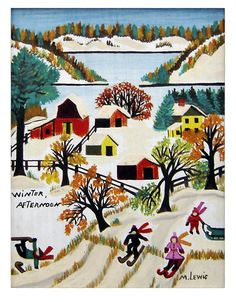 """Winter Afternoon"" by Canadian folk artist Maud Lewis (via Black Sheep Gallery)."