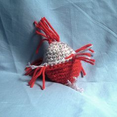 Cat Toy with Organic Catnip Red and Gray by McCrenshawKnits, $3.00