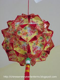 Red packet craft pineapple lantern red packet craft for Ang pow decoration craft work