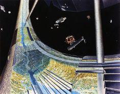 Dans les années 70, la Nasa réalisée des études sur la fabrication de colonies dans l'espace et a demandé à des artistes d'illustrer à quoi elles pourraient ressembler.