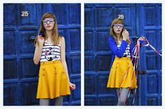 blue + yellow Waist Skirt, Midi Skirt, High Waisted Skirt, Skirt Fashion, Blue Yellow, Brazil, Trips, Crushes, Skirts