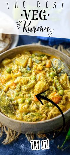 Curry Recipes, Vegetarian Recipes, Veg Kurma Recipe, Veg Pulao, New Recipes For Dinner, Indian Food Recipes, Ethnic Recipes, Indian Breakfast, South Indian Food