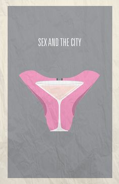 Sex and City minimalist poster design by @Hunter Langston